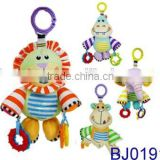 Funny soft toy decorative stuffed toy baby teeth rattle toys