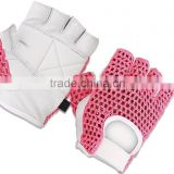 Leather Weight Lifting Padded Cotton Mesh Crochet Gloves/New Leather Weight Lifting Gym Gloves Crochet Mesh Cycling Gloves