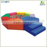 FS-SP-040C customized eco-friendly PVC & EPE & Wood kids octagonal plastic ball pool