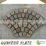 cut-to-size stone form and split surface finishing natural edge rusty slate floor tile rubber mold for stone