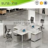 Sunshine furniture aluminium glass office partition steel leg with mobile pedestal modern style