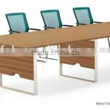 Modern design MFC Metal frame large meeting table for conference room FOH-CT-F3212