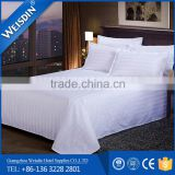 Luxury design egyptian cotton hotel / hospital/ apartment stripe bed sheet set wholesale