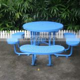 Urban street furniture supplier of antirust finished table and benches indoor and outdoor