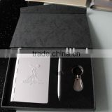 exquisite beautiful stationary gift set with agenda notebook,name card box&key chian