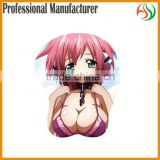 AY OEM Japanese Girl Sexi Hot Sex Girl Boob Picture Custom Gel Mouse Pads, Anime Sexy Silicone Computer Mousemat Wrist Rest