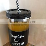 Cheap Glass Mason Jar For Juice Promotion Glass Cup for Drinking Glass Mug with Lid and Straw