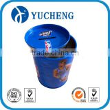 food grade recycle bright color airtight round coin bank metal tin can