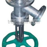 Jacketed flush vessel bottom valve,melt Valve,Stainless Steel Valve