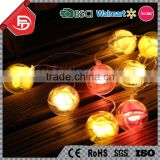 TZFEITIAN China wholesale rose flower plastic ball holiday decor christmas string light power supply