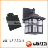 wholesale antique design iron solar gate light PIR solar wall light solar led outdoor wall light