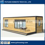 2016 New Creative Design One Bedroom One Living Room Mobile 40'HQ Container WPC Modular House