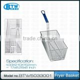 Heavy Gauge Welded Wire Mesh/Frying Basket/Commercial Kitchen Accessories with Front Hook