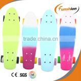 22 inch plastic skateboard in single color
