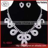 NEW Bridal Necklace Earrings Set For Bride Rhinestone Crystal Wedding Jewelry Accessories