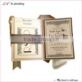 high quality customeid silk luxury wedding invitations made in shanghai