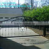 latest automatic modern wrought iron main gate designs for homes/cheap wrought iron gates
