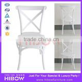 Hibow Furniture bride and groom wedding chair cross back chair H011