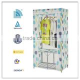 2014 Made in china factory supply large portable wardrobe organizer cloth storage closet