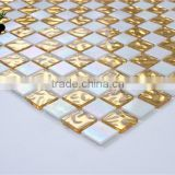 SMG06 Ceiling mosaic patterns acid and alkali resitant gold glass mosaic tiles front wall mosaic