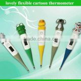Cheapest lovely cartoon flexible digital thermometer for babies & adults as promotional medical gift