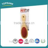 Hot selling pet brush double side wooden handle with low price