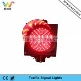 Red LED flashing full screen waterproof 200mm led traffic light parts