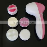 2014 beauty whitening facial cleanser face massager 5 In 1 facial brush