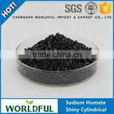 Sodium Humate Shiny Cylindrical Humic Acid in Soil For Fertilizer, Soil Amendments, Feed Additive, Oil Drilling Sodium Humate