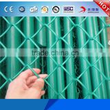 Wholesale Factory Price Metal Stadium or Farm Fencing PVC Coated 9 gauge 7 foot Temporary Barrier Chain Link Fence