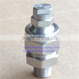 Stainless steel flat spray adjustable ball nozzle