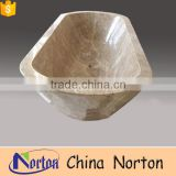 Modern beige marble bathroom bathtub Norton factory sales NTS-BA021Y