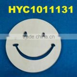custom natural smiling face wooden coaster