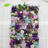 GNW FLW1705005 Fake Flower Wall Cloth Board Grass Flower Wall Art Flowers Backdrop Supplies