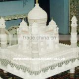 White Marble Taj Mahal Model Taj Mahal Replica, Home Decorative Marble Taj Mahal Replica Gift