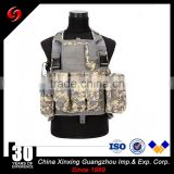 high quality 1000D nylon material mesh vest black/ camouflage with pockets army training molle system tactical vest