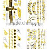 T003-003 wholesale high quality cheap tattoo sticker metallic glitter removal temporary tattoo stencil