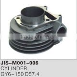 Motorcycle engine part cylinder for GY6-150 D57.4