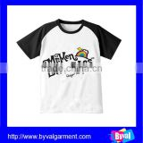 Children's t-shirt printing with contrast sleeve on wholesale with high quality