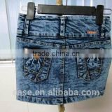 New Desigh Women Jean Skirt,Knee Length Women Denim Skirts,Blue Jean Skirt with Button Girl Denim Skirts