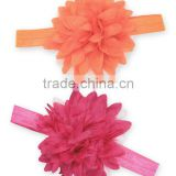 New Orange And Fuchsia Floral Baby Headband set Adorable Infant Bands Cute Girls Headbands HA90421-49