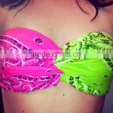 Hot Summer Solid Color Sexy Women Twist Bandeau Bikini Tops Wholesale