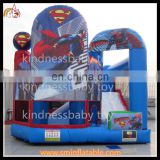 Inflatable superman theme castle, inflatable bouncy castle, air trampoline