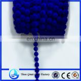 The new sapphire circular flocking cotton cords bead clothing decorative accessories