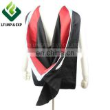 UK Deluxe Master Hood Black Outside and Red/White Lined Satin Inside