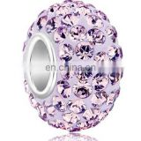 New product 2014 crystal beads wholesale clear light purple crystal beads in bulk