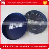 Round blue anti-skidding hard plastic bar condiment food serving tray with printing logo