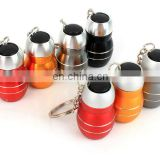 3 led barrel mini keychain flashlight