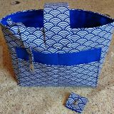 full printed blue organizer bag from China factory