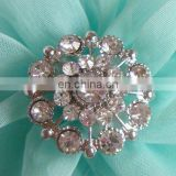 2013 new fashion rhinestone round flower button invitation card button garment accessory